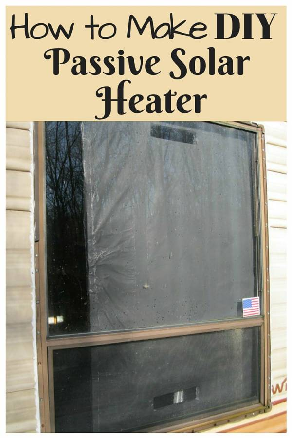 How To Make Diy Passive Solar Heater The Budget Diet
