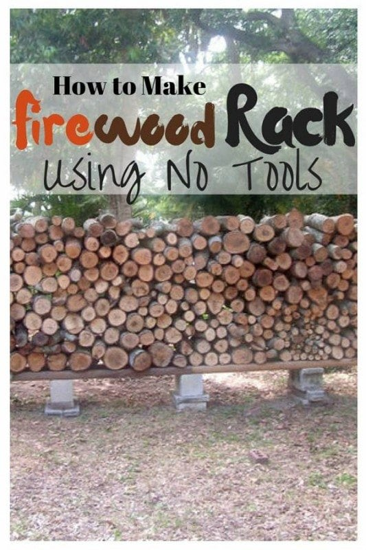 Air out and keep your woods dry with this firewood rack. Using no tools, this is the ideal project for DIY beginners.