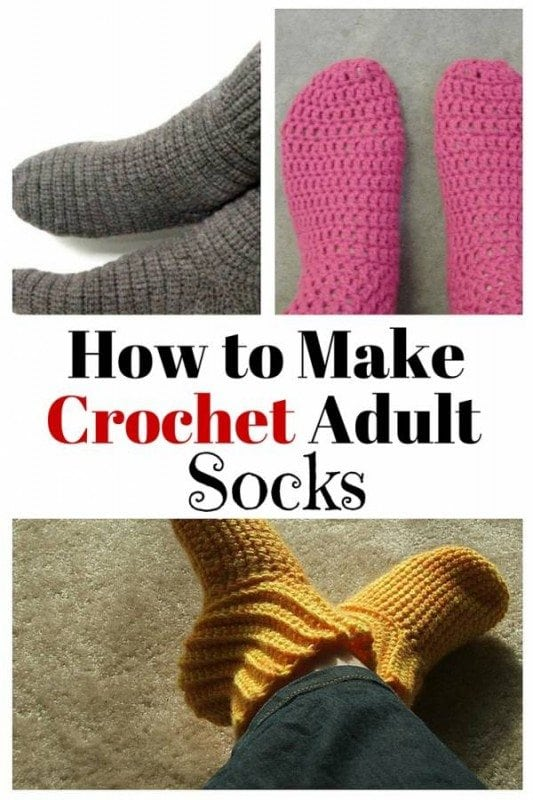 Crochet adult socks are the perfect gifts this coming winter months. They are soft, comfortable and warm for your feet.