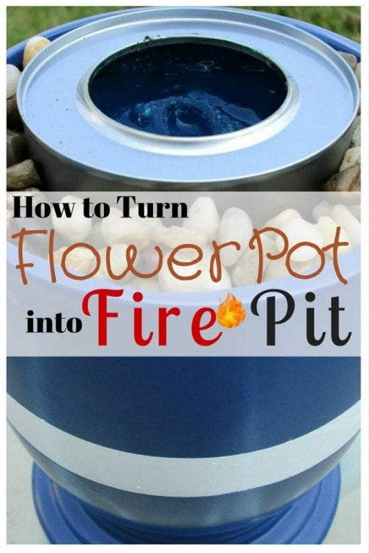 Family and friends gather around a fire pit is a great time to experience the outdoors. Turn your old flower pit into a lovely and simple fire pit.