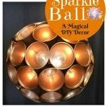 DIY Metallic Sparkle Ball: An Exceptional Ornament this Thanksgiving