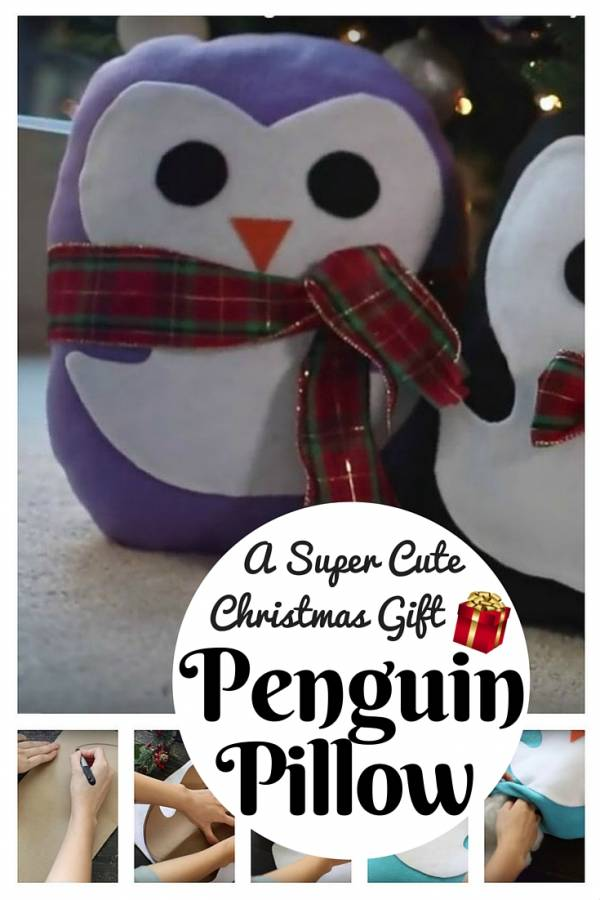 Friend Christmas Gifts Diy.Diy Penguin Pillow A Super Cute Christmas Gift The Budget
