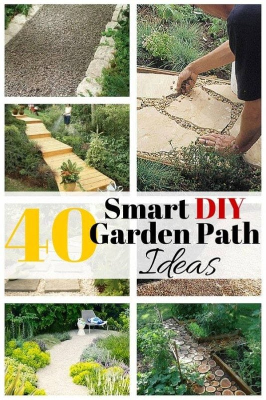 Redecorate your garden with these 40 smart DIY garden path ideas that will absolutely bring appeal to your backyard. Moreover, you will create a path for guests to easily find their way in your garden.