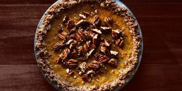 pumpkin pie with pecan