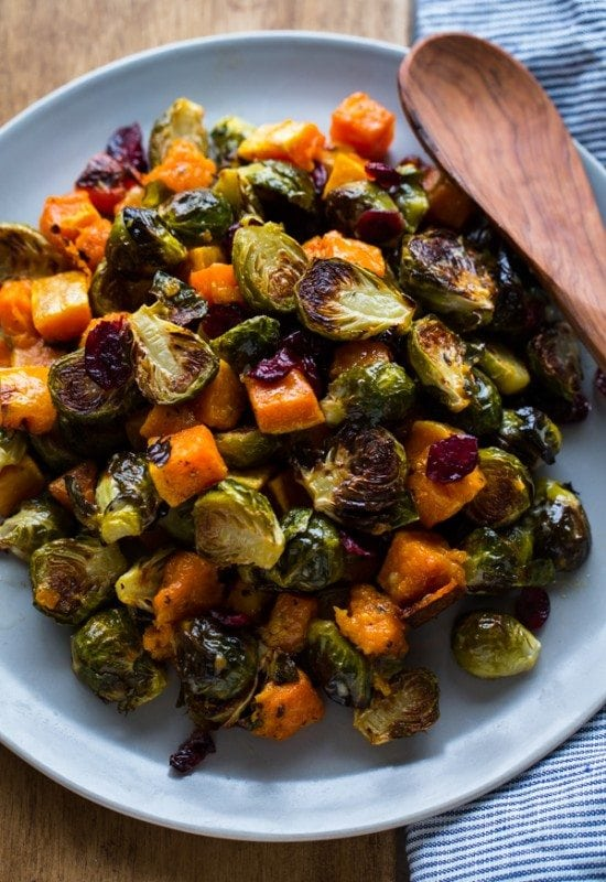 Roasted Brussels Sprouts and Squash