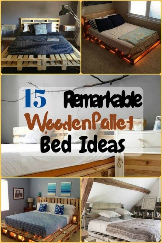 Thinking of remodeling your bedroom? Any living space can be renovated with some shipping pallet skids that can be converted into standard and premium bed layouts with a very few creative twists and steps.