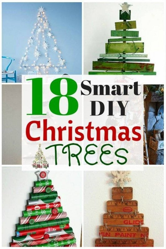 Set the festive mood in your house with these smart DIY Christmas trees. You can use recycled materials to create this decor that symbolizes the essence of the Yuletide season.