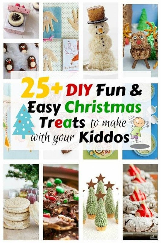 Keep your kiddos busy this holiday season with these Christmas treats that you can make together. They're super fun to make, delicious and incredibly cute.
