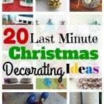20 Last Minute Christmas Decorating Ideas