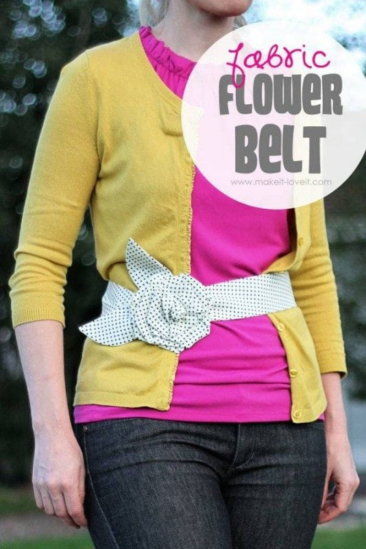 Fabric Flower Belt