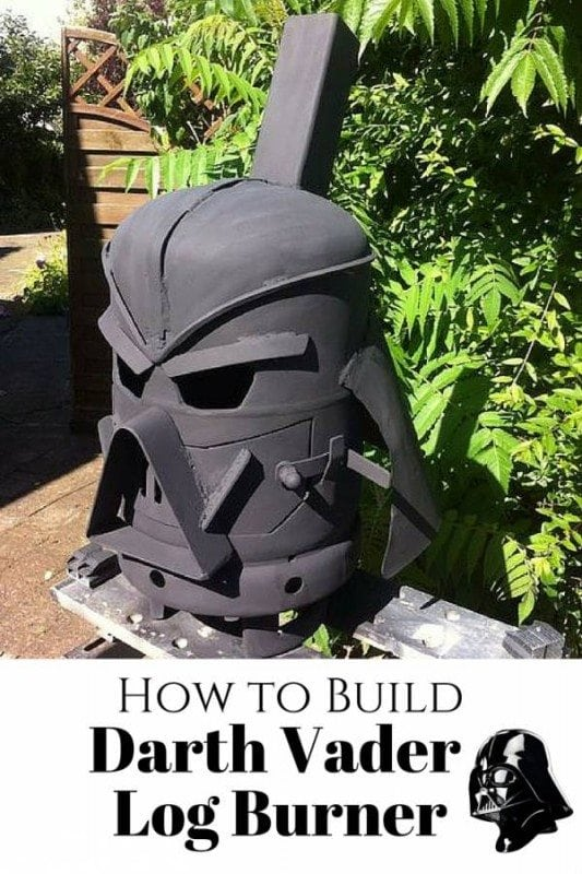 Follow these step-by-step instructions on how to build this evil Darth Vader log burner. The Force will surely get stronger!