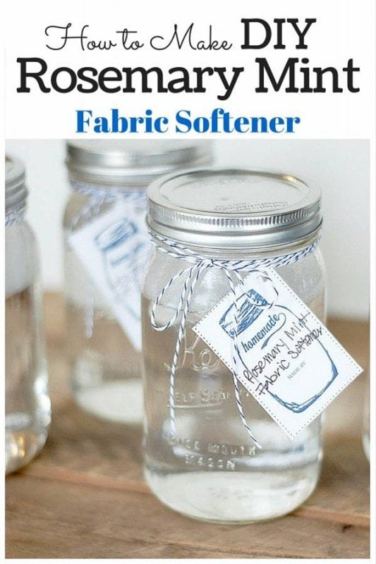 Create your own Rosemary Fabric Conditioner for soft and fragrant laundry. With just a few steps, you can save money and your clothes will smell heavenly too!