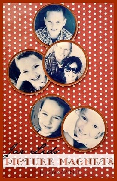 Jar Lid Picture Magnets