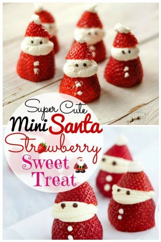 """Mini Santas that both kids and adults will adore. They are tasty favors after dinner or """"thank you"""" sweets for your guests. A must-try this season!"""