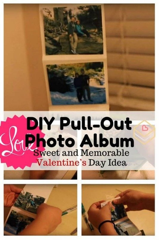 Create a one-of-a-kind photo album to celebrate Valentine's Day with your family or special someone. Show much you love them with this DIY.