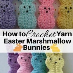 How to Crochet Yarn Easter Marshmallow Bunnies