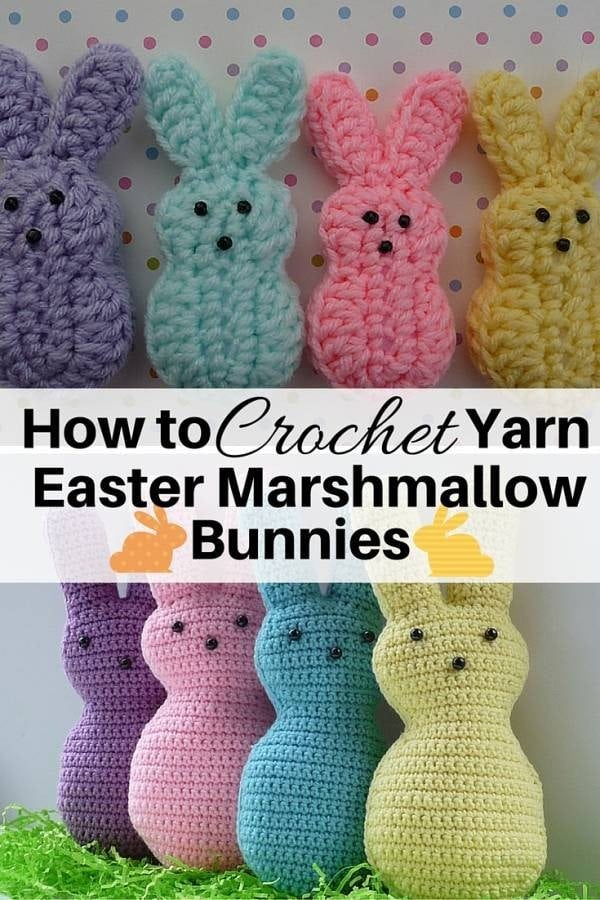 Spend your afternoons creating these adorable yarn marshmallow bunnies for Easter. These are cute and lovely items for your Easter basket.