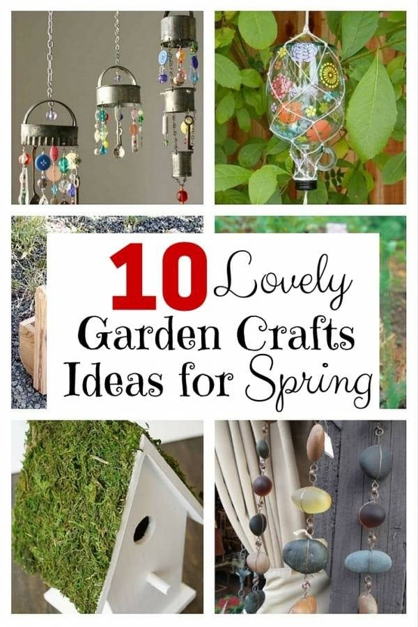 Check out these lovely garden crafts you can add to your garden now spring has arrived. With these simple DIYs, you can beautify your garden any time.