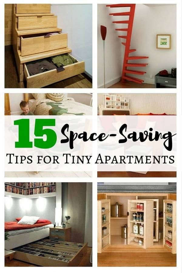 15 Space-Saving Tips for Tiny Apartments - The Budget Diet