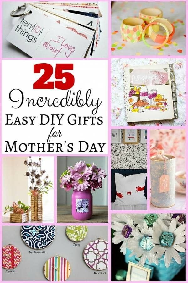25 Incredibly Easy Diy Gifts For Mother S Day The Budget Diet