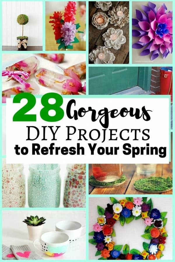 Gorgeous DIY crafts to keep you occupied this spring. Creative and inexpensive ways to beautify your home.