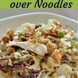 Chicken Slaw over Noodles: A Delicious Twist to an Asian Dish
