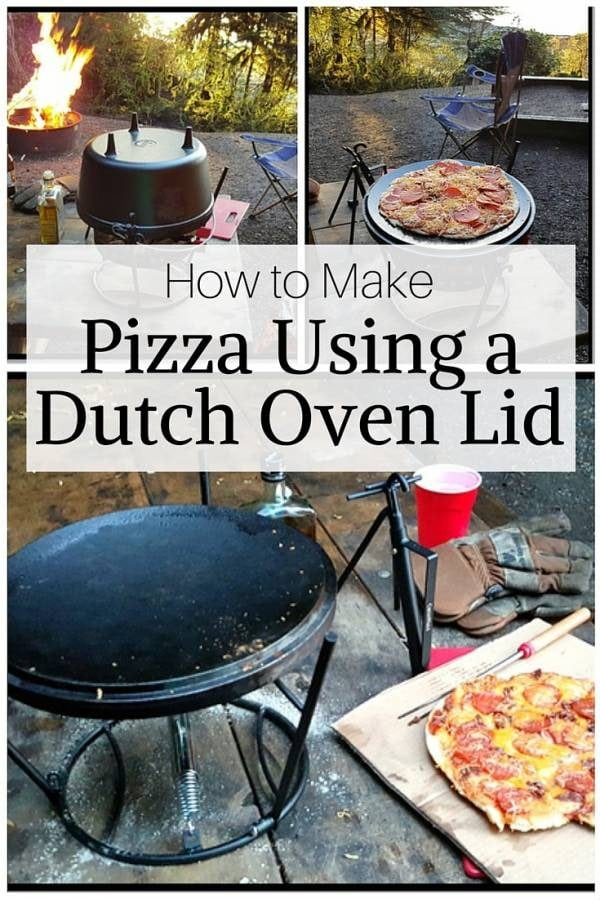 Camping while making pizza are two things you must experience. By using a dutch oven lid, you can have that tasty, crunchy pizza while enjoying the outdoors.