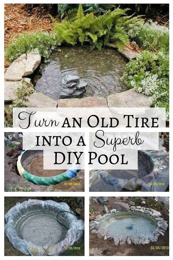 Save Mother Nature and recycle an old tire into a superb DIY pool. A garden feature that is easy to make and lovely to look at.