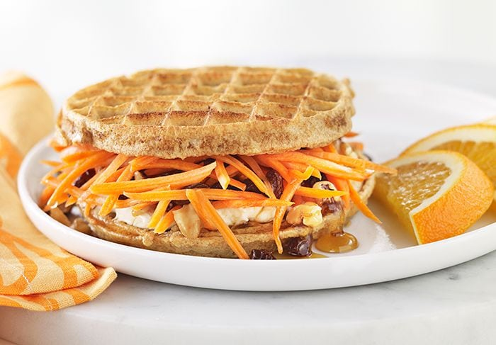 How to Eat Healthy For Less Than $400 a Month - Waffle with carrots