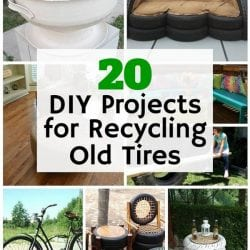 20 DIY Projects for Recycling Old Tires