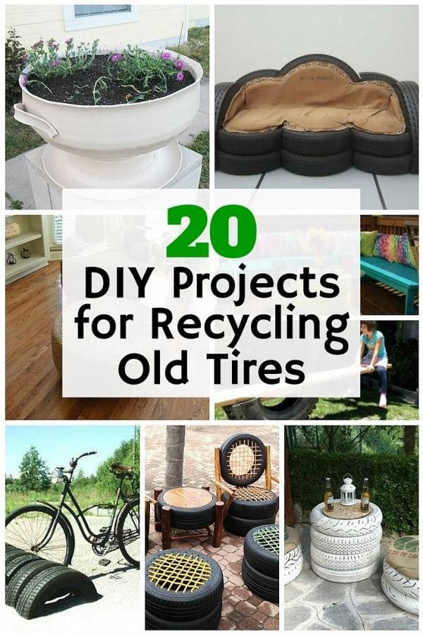 20 diy projects for recycling old tires the budget diet - Diy projects using old tires ...