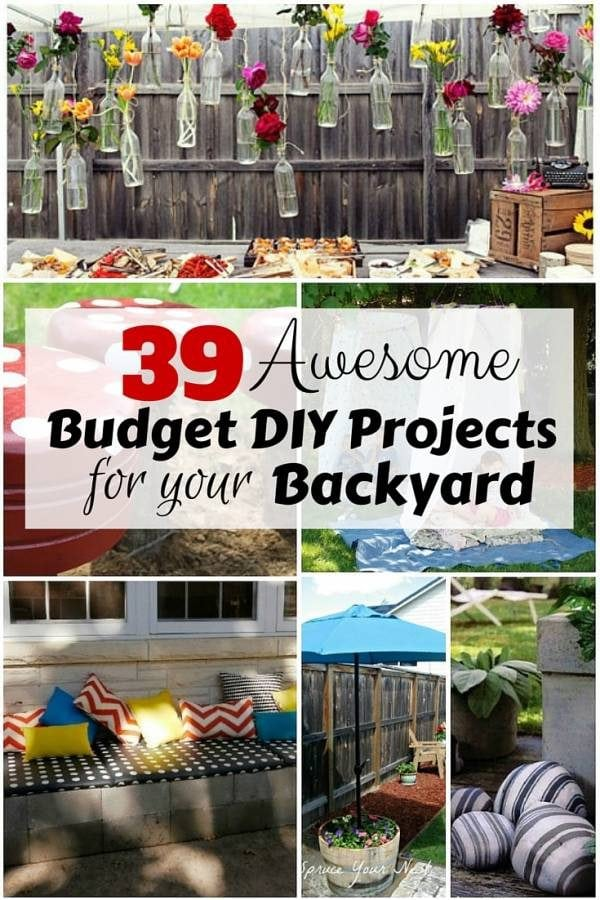 Reinventing your backyard should not be expensive. Check out this awesome list of DIY backyard projects within your budget.