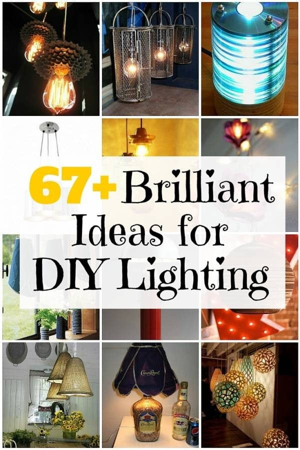 The right lighting fixtures effortlessly add value to any home. Check out this huge list of DIY lighting projects for your next redecorating.