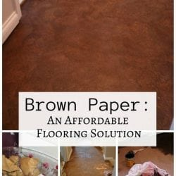 Brown Paper: An Affordable Flooring Solution