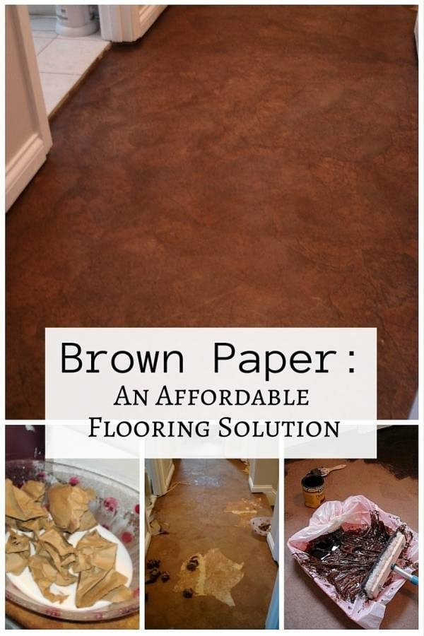 For those who want affordable, indigenous and easy flooring solution, we have here a tutorial on how to use brown paper as your flooring. An easy DIY kids can also help out.