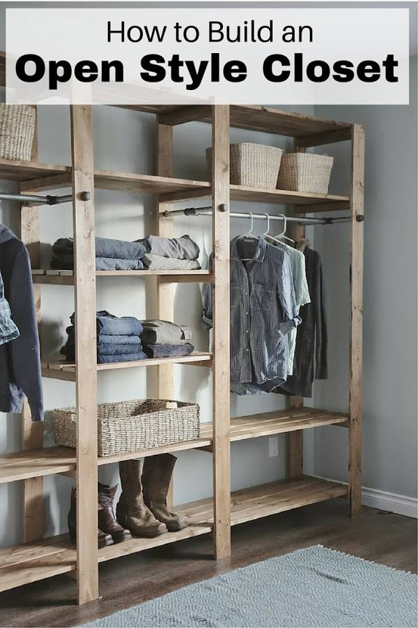 How To Build An Open Style Closet The Budget Diet