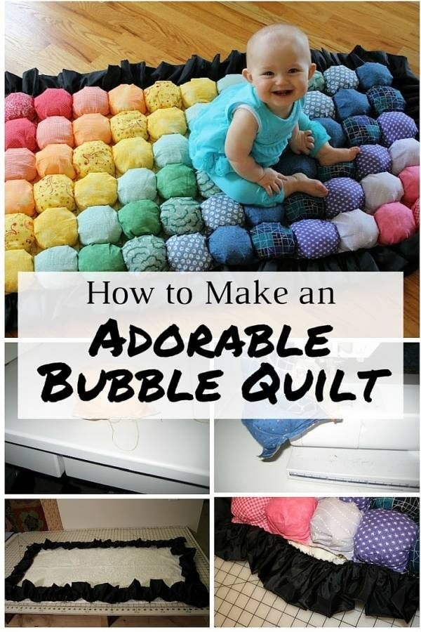 An adorable sewing project made from inexpensive materials. A soft and comfy quilt for your little one.