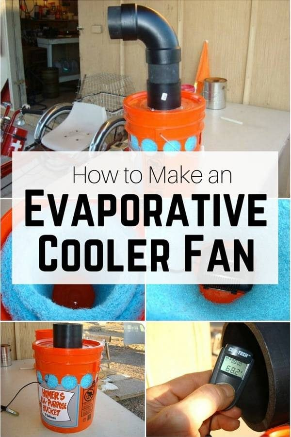 Humidify and cool the air with this DIY Evaporative Cooler Fan. Beat the coming summer heat with this homemade air con.