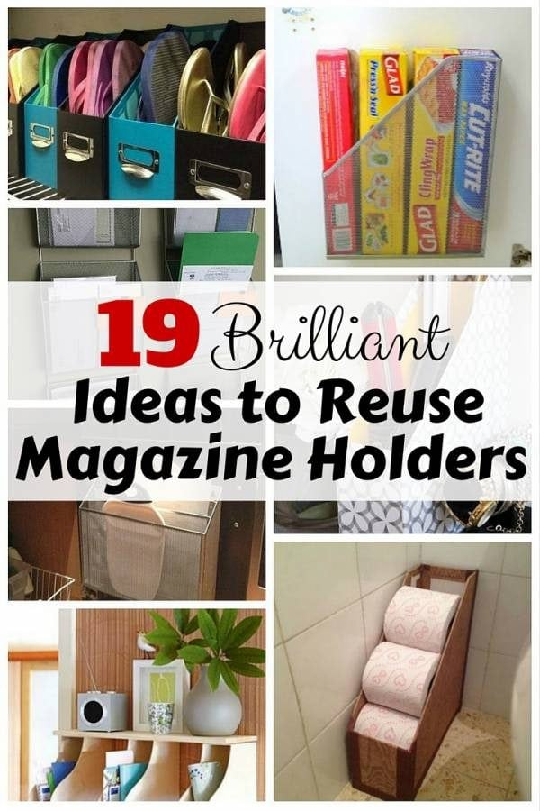 Magazine holders are not only to keep your magazines. They can be transformed into some DIY features useful in keeping the house organized all the time.
