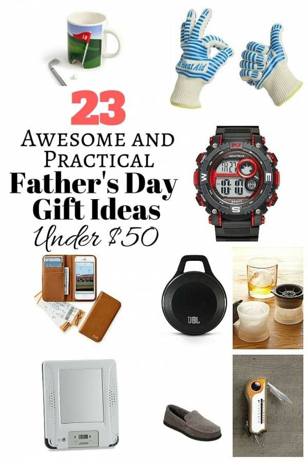 Surprise your super Dad this coming Father's Day with these amazing gift ideas under $50. Cool finds that will amaze your Pops.