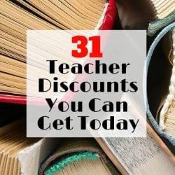 Take Advantage of these 31 Teacher Discounts