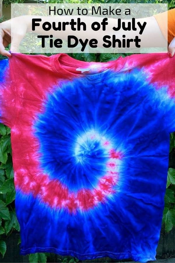 Be proud and wear this Fourth of July Tie Dye Shirt. Make some for the entire family.