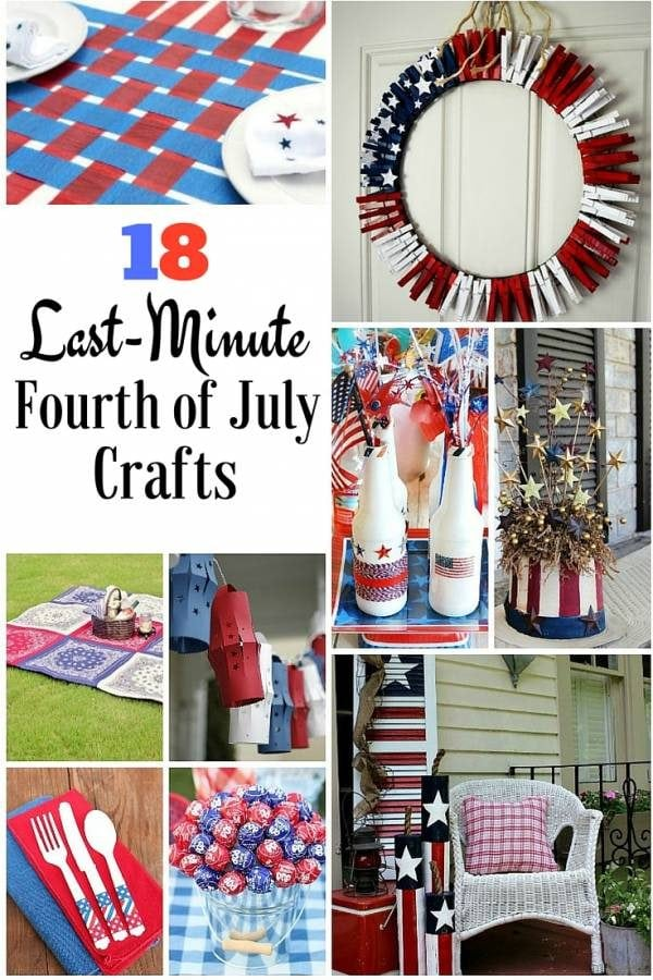 Get your home ready with these last-minute DIY ideas for Fourth of July. They are the perfect red, white and blue for your budget.