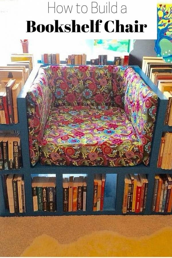 A bookshelf that gives you enough space for your books and a chair for comfortable reading. A DIY for all book lovers out there!