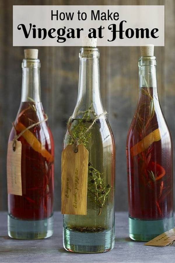 Make your own vinegar at home in different flavors. A must-have in any household.