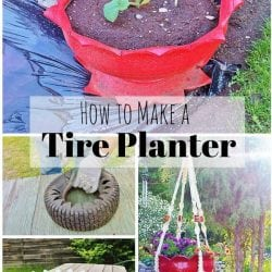 Transform an Old Tire into a Garden Planter