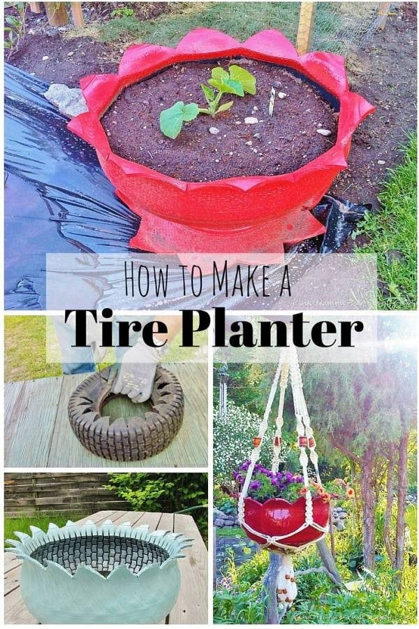 Another amazing way to recycle old tire - turn them into stunning planters. A definite addition to your garden.