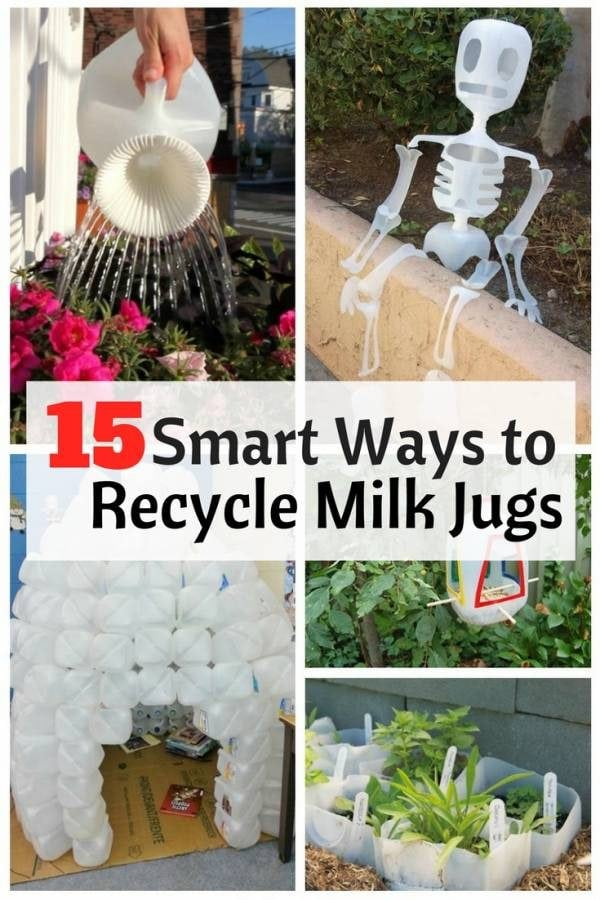 Empty milk jugs are the perfect DIY material as you can recycle them to a lot of things. Also, they are easy to work with.