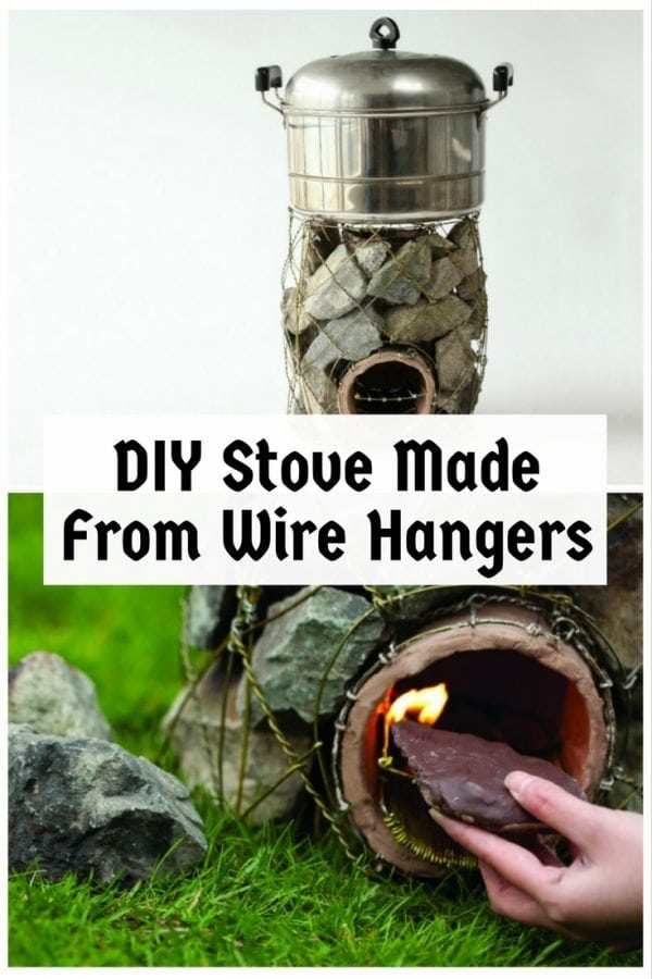 Reuse wire hangers into a functional stone stove for family to fully enjoy outdoors. An award-winning design that is easy to make.