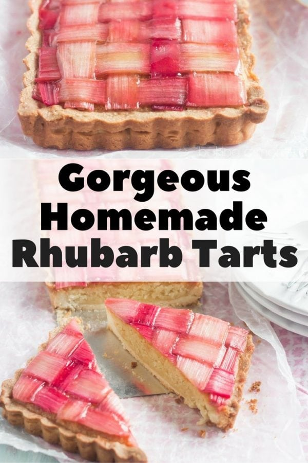 A striking, tasty rhubarb tarts for the next family gathering on spring. It is far different from the usual fruity treat.